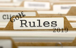 Golf rules changes 2019